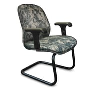 Marvel® Allegra® Fabric Padded Mid-Back Sled Base Chair With Loop Arms, ACU Digital Camo