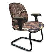 Marvel® Allegra® Fabric Padded Mid-Back Sled Base Chair With Loop Arms, Mossy Oak®