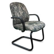 Marvel® Allegra® Fabric Padded Mid-Back Sled Base Chair With Adjustable Arms, ACU Digital Camo