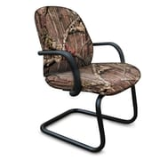 Marvel® Allegra® Fabric Padded Mid-Back Sled Base Chair With Adjustable Arms, Mossy Oak®