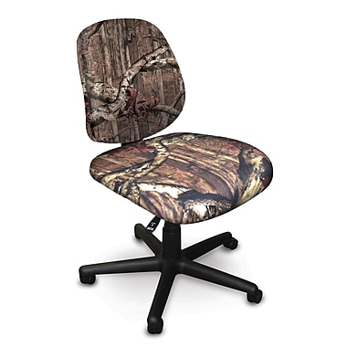Marvel® Allegra® Padded Fabric Low-Back Armless Task Chair, Mossy Oak®