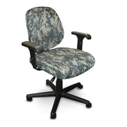 Marvel® Allegra® Padded Fabric Low-Back Task Chair W/Adjustable Arms, ACU Digital Camo