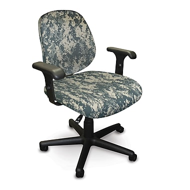 Marvel® Allegra® Padded Fabric Low-Back Task Chairs W/Adjustable Arms