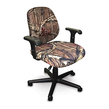 Marvel® Allegra® Padded Fabric Low-Back Task Chair W/Adjustable Arms, Mossy Oak®