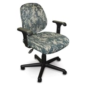 Marvel® Allegra® Padded Fabric Low-Back Task Chair W/Dual Adjustable Arms, ACU Digital Camo