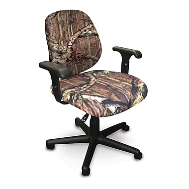 Marvel® Allegra® Padded Fabric Low-Back Task Chair W/Dual Adjustable Arms, Mossy Oak®
