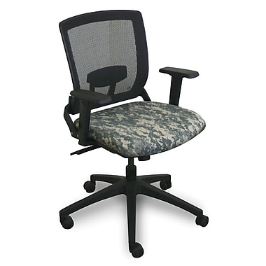 Marvel® Fermata® Fabric Mid-Back Operational Chair With Adjustable Arms, ACU Digital Camo