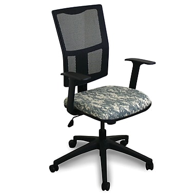 Marvel® Fermata® Fabric Mid-Back Task Chairs W/Arms & Mesh Back