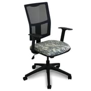 Marvel® Fermata® Fabric Mid-Back Task Chair W/Arms & Mesh Back, ACU Digital Camo