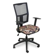 Marvel® Fermata® Fabric Mid-Back Task Chair W/Arms & Mesh Back, Mossy Oak