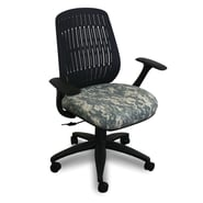 Marvel® Fermata® Fabric Mid-Back Wave Chair W/Arms & Vinyl Back, ACU Digital Camo