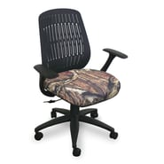 Marvel® Fermata® Fabric Mid-Back Wave Chair W/Arms & Vinyl Back, Mossy Oak®