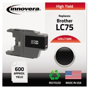 Innovera™ LC75 Black Ink Cartridge, High Yield