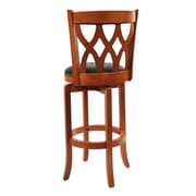 Boraam Cathedral 29 Wood Swivel Stool, ES Cherry