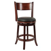 "Boraam Palmetto 24"" Wood Swivel Stool, Brandy"
