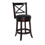 "Boraam Georgia 24"" Wood Swivel Stool, Cappuccino"