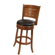"Boraam Sumatra 29"" Wood Swivel Stool, Brush Oak"