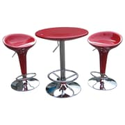 Boraam 33 - 39 3 Piece Adjustable Luna Pub Set, Red