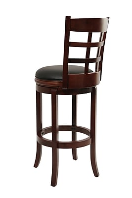 """""Boraam Kyoto 29"""""""" Leather Swivel Stool, Cherry/Brown"""""" 910843"