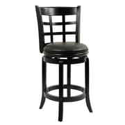 Boraam Kyoto 24 Wood Swivel Stool, Black
