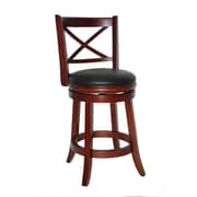 Boraam Georgia 24 Wood Swivel Stool, Cherry