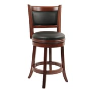 "Boraam Augusta 24"" Swivel Bar Stool, Cherry (49824)"