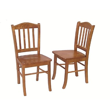 Boraam Solid Rubberwood Shaker Dining Chairs