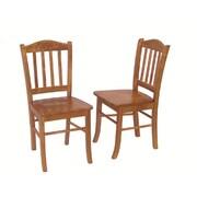 Boraam Solid Rubberwood Shaker Dining Chair, Oak