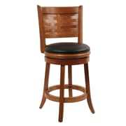 Boraam Sumatra 24 Wood Swivel Stool, Brush Oak