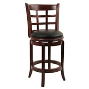 Boraam Kyoto 24 Wood Swivel Stool, Cherry