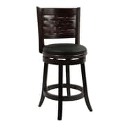 Boraam Sumatra 24 Wood Swivel Stool, Cappuccino