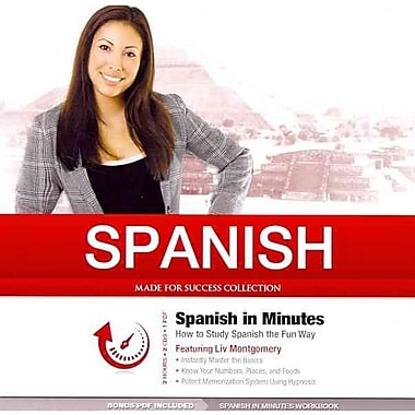 Spanish in Minutes Made for Success, Liv Montgomery Audiobook CD