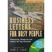 Business Letters For Busy People John A. Carey Paperback