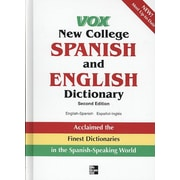 Vox New College Spanish And English Dictionary Vox  Hardcover