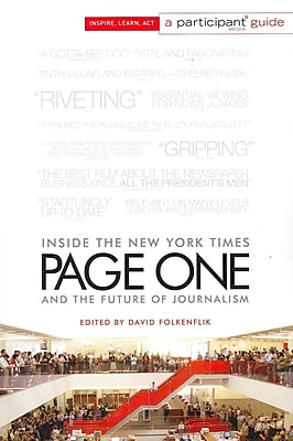 Page One: Inside The New York Times and the Future of Journalism David Folkenflik, Participant Media Paperback 496566