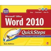 Microsoft Office Word 2010 Quicksteps Marty Matthews Paperback