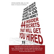 What Does Somebody Have to Do to Get a Job Around Here? Cynthia Shapiro Paperback