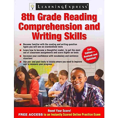 8th Grade Reading Comprehension and Writing Skills LLC LearningExpress Paperback