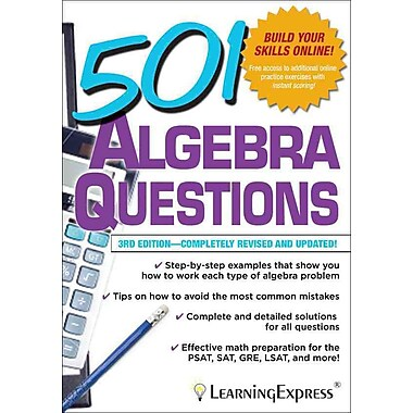 501 Algebra Questions LLC LearningExpress Paperback | Staples®
