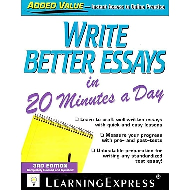 write better essays in 20 minutes a day Write better essays in 20 minutes a day pdf masters admission essay example sample essay hsc thesis proposal for information system thesis paper outline examples resume writing tips for.