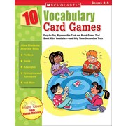 10 Vocabulary Card Games Elaine Richard  Paperback