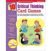10 Critical Thinking Card Games (Paperback) Elaine Richard   Paperback