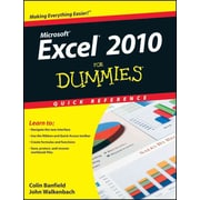 Excel 2010 For Dummies Quick Reference Colin Banfield, John Walkenbach Plastic Comb