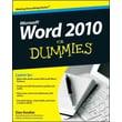 Word 2010 For Dummies Dan Gookin Paperback