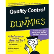 Quality Control for Dummies Larry Webber, Michael Wallace Paperback