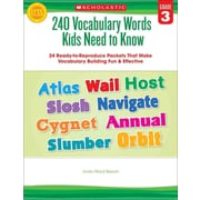 240 Vocabulary Words Kids Need to Know Linda Beech