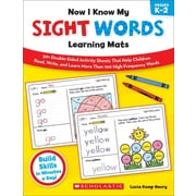 Now I Know My Sight Words Learning Mats Lucia Kemp Henry  Paperback