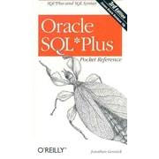 Oracle SQL*Plus Pocket Reference (Pocket Reference (O'Reilly)) Jonathan Gennick Paperback