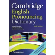 Cambridge English Pronouncing Dictionary Daniel Jones Paperback