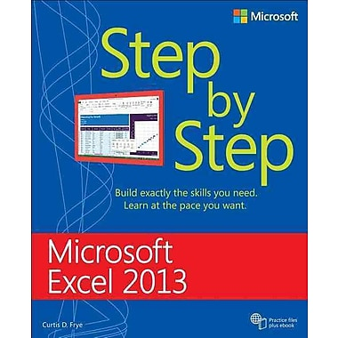 Microsoft Excel 2013 Step by Step (Step by Step (Microsoft)) Curtis Frye D. Paperback, Used Book, (0735681019)